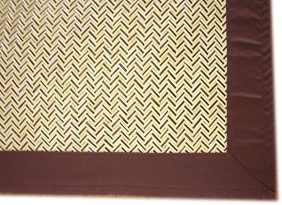 籐手編みピールラグ200×200