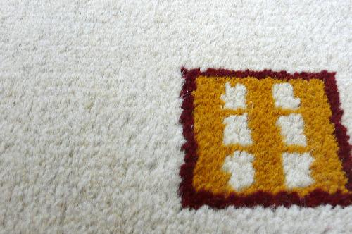 天然染色手織りインドギャベ60×90cm 1721